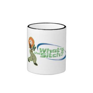 Kim Possible Kim What's the Sitch Logo Disney Ringer Coffee Mug
