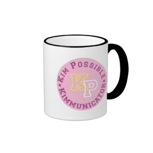 Kim Possible KP Kimmunicator logo Disney Coffee Mug