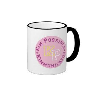 Kim Possible KP Kimmunicator logo Disney Ringer Coffee Mug