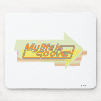 Kim Possible: My Life Is So Over Text Disney Mouse Pad