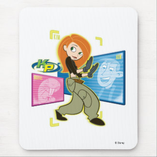 "Kim Possible Rufus Ron ""KP"" Disney Mouse Pad"
