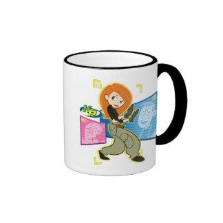 "Kim Possible Rufus Ron ""KP"" Disney Ringer Coffee Mug"