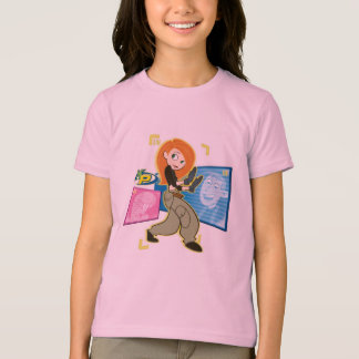 "Kim Possible Rufus Ron ""KP"" Disney T-Shirt"