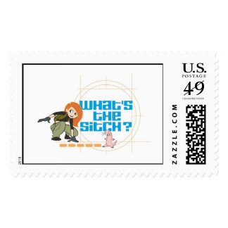 """Kim Possible Rufus """"what's the sitch?"""" Disney Stamp"""