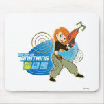 """Kim Possible """"She Can do Anything"""" Disney Mouse Pad"""