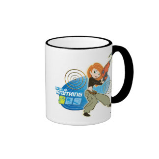 "Kim Possible ""She Can do Anything"" Disney Ringer Coffee Mug"