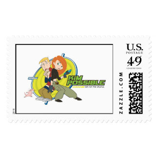 Kim Possible's Characters Disney Postage Stamp