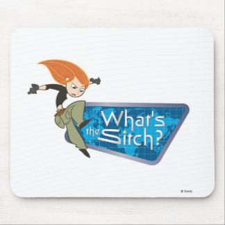 """Kim Possible's Kim """"What's the Sitch?"""" Disney Mouse Pad"""