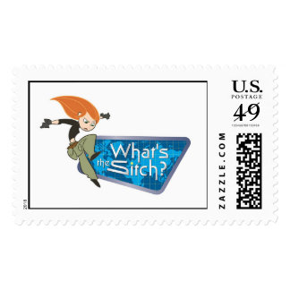 """Kim Possible's Kim """"What's the Sitch?"""" Disney Postage"""