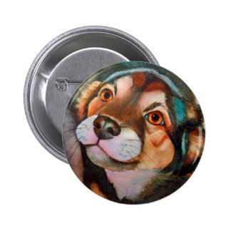 Kimba, mezcla de Terrier del pastor Pin Redondo De 2 Pulgadas