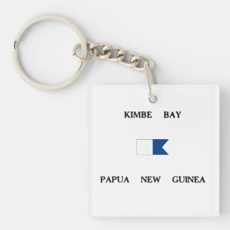 Kimbe Bay Papua New Guinea Alpha Dive Flag Keychain