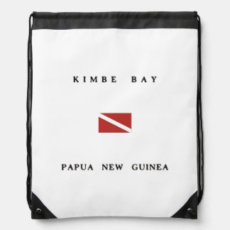 Kimbe Bay Papua New Guinea Scuba Dive Flag Drawstring Backpack
