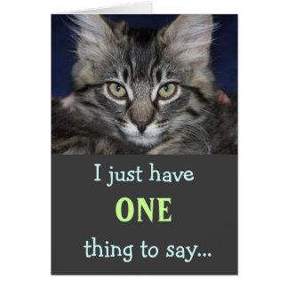 Kimber Cat Thank You Card