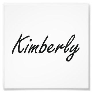 Kimberly artistic Name Design Photo Print