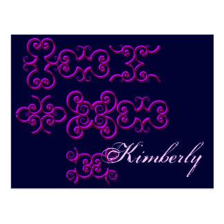 Kimberly Designer Name Postcard - Customizable