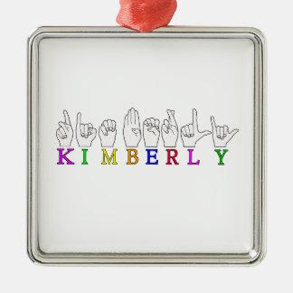 KIMBERLY FINGERSPELLED NAME ASL METAL ORNAMENT