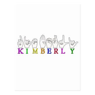 KIMBERLY FINGERSPELLED NAME ASL POSTCARD