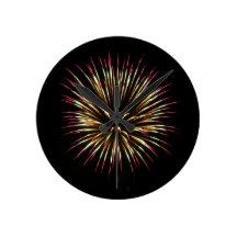 Kimberly P-Chadwick~ Fireworks Wall Clock