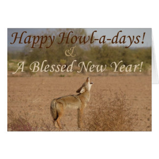 Kimberly P-Chadwick's~ Coyote Howl-a-Day Card