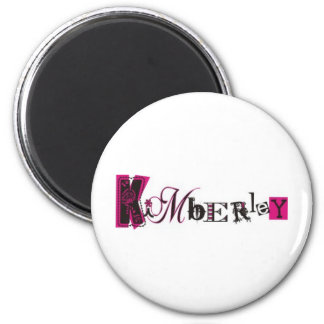 Kimberly personalizó productos imán redondo 5 cm
