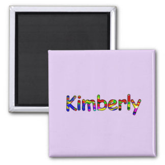 Kimberly Purple Squared Magnet