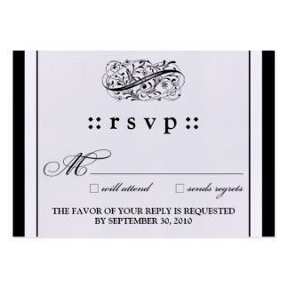 "::kimberly:: Simply Elegant 3.5""x2.5"" RSVP Card Large Business Cards (Pack Of 100)"