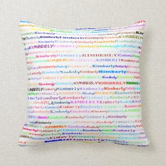 Kimberly Text Design II Throw Pillow