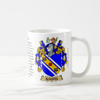 Kimble, the Origin, the Meaning and the Crest Classic White Coffee Mug