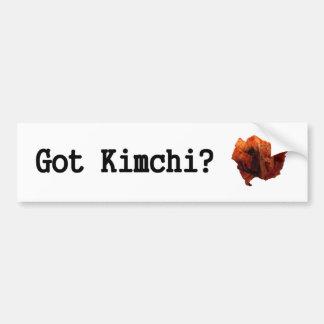 ¿Kimchi conseguido? Pegatina De Parachoque