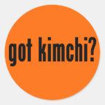 ¿kimchi conseguido? pegatina redonda