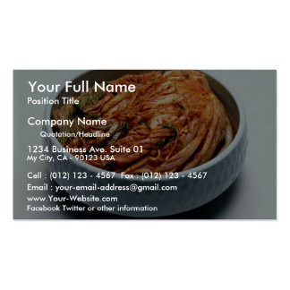 Kimchi (Korean pickles) Business Card Template