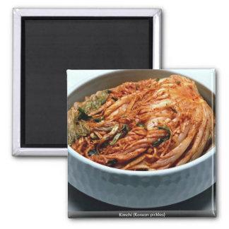 Kimchi (salmueras coreanas) imán cuadrado