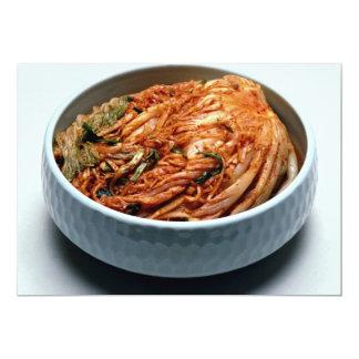 """Kimchi (salmueras coreanas) invitación 5"""" x 7"""""""