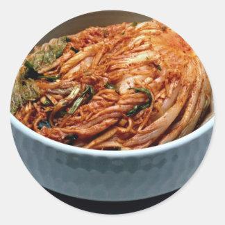 Kimchi (salmueras coreanas) pegatina redonda