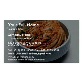 Kimchi (salmueras coreanas) tarjeta de visita