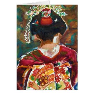 "Kimoku ""GEISHA GIRL"" Original Wate... - Customized Card"