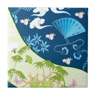 Kimono azul azulejo