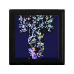 KIMONO BLUE - SPRING BLOSSOMS- ASIAN FLORAL ROBES GIFT BOX