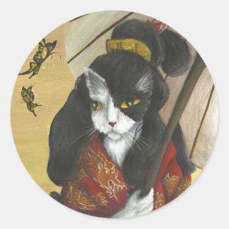 Kimono Cat stickers