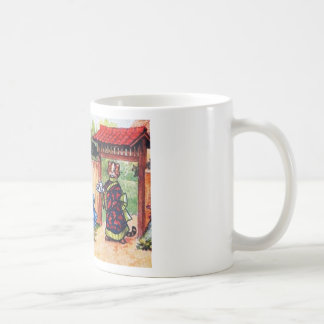 Kimono Cats Have Tea (Vintage Image) Coffee Mug