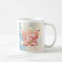 art, asia, beautiful, blossom, cool, culture, cute, flower, geisha, illustration, japan, japanese, kimono, new, year, oriental, pink, sakura, spring, traditional, Mug with custom graphic design
