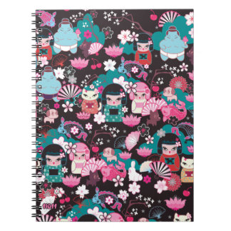 Kimono Cuties Kawaii Notebook