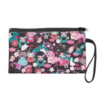 Kimono Cuties Wristlet Bag by Fluff