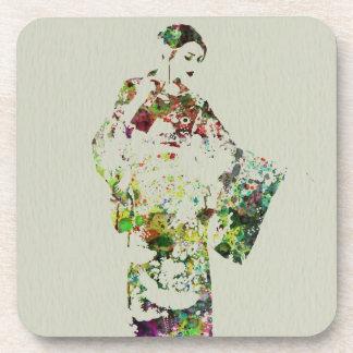 Kimono Dancer 3 Beverage Coaster