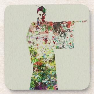 Kimono Dancer 4 Coaster