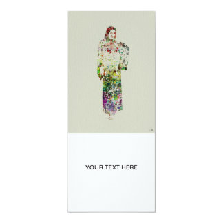 Kimono Dancer 5 4x9.25 Paper Invitation Card