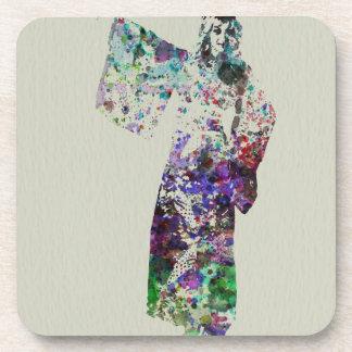 Kimono Dancer 6 Beverage Coaster