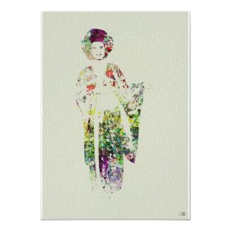 Kimono Dancer 5x7 Paper Invitation Card