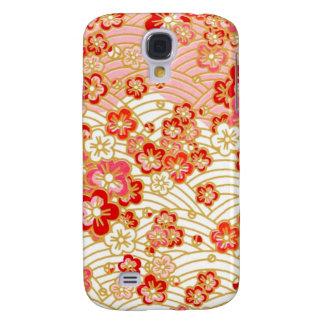 Kimono de PixDezines/falsos chirimen Funda Para Galaxy S4