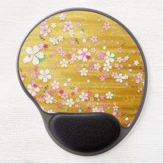 Kimono de Sakura del oro: Gel Mousepad Alfombrillas De Raton Con Gel